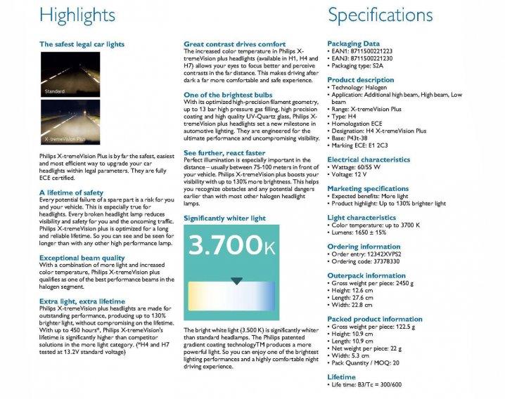 Philips X-treme VisionPlus 12V Headlights (H4) Reviews & Info Singapore
