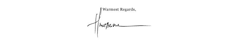 Warmest regards
