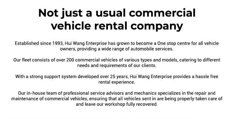 vehicle rental company