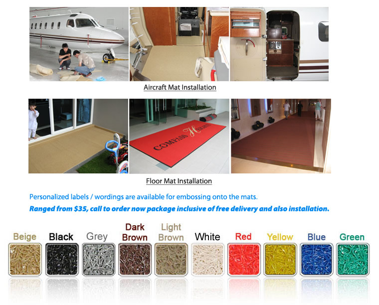 Aircraft Mat & Floor Mat Installation