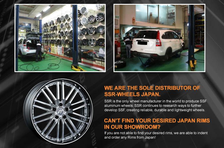 Sole distributor of SSR-Wheels Janpan