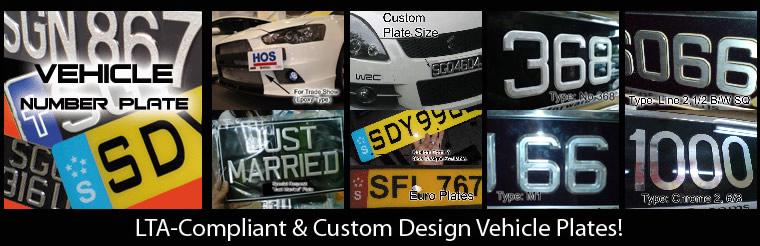LTA-Compliant & Custom Design Vehicle Plates