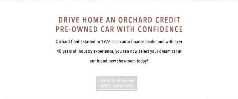 Drive home an orchard credit