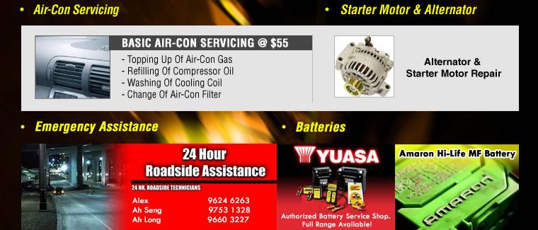 Air-Con Servicing & Starter Motor & Alternator