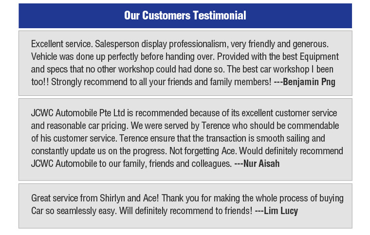 Our customer testimonial
