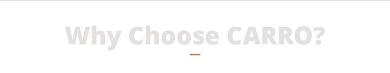 why choose carro