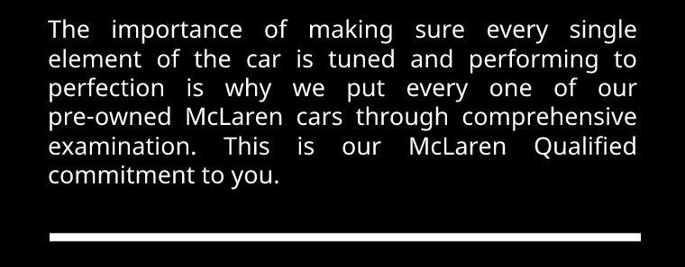 McLaren qualified