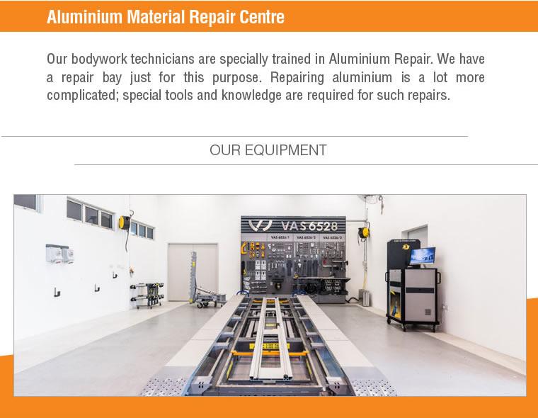 Aluminium material repair centre