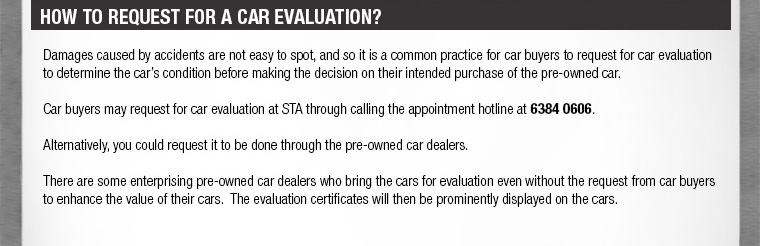 HOW TO REQUEST FOR A CAR EVALUATION