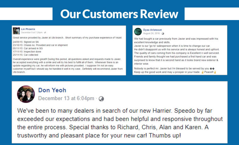our customers review