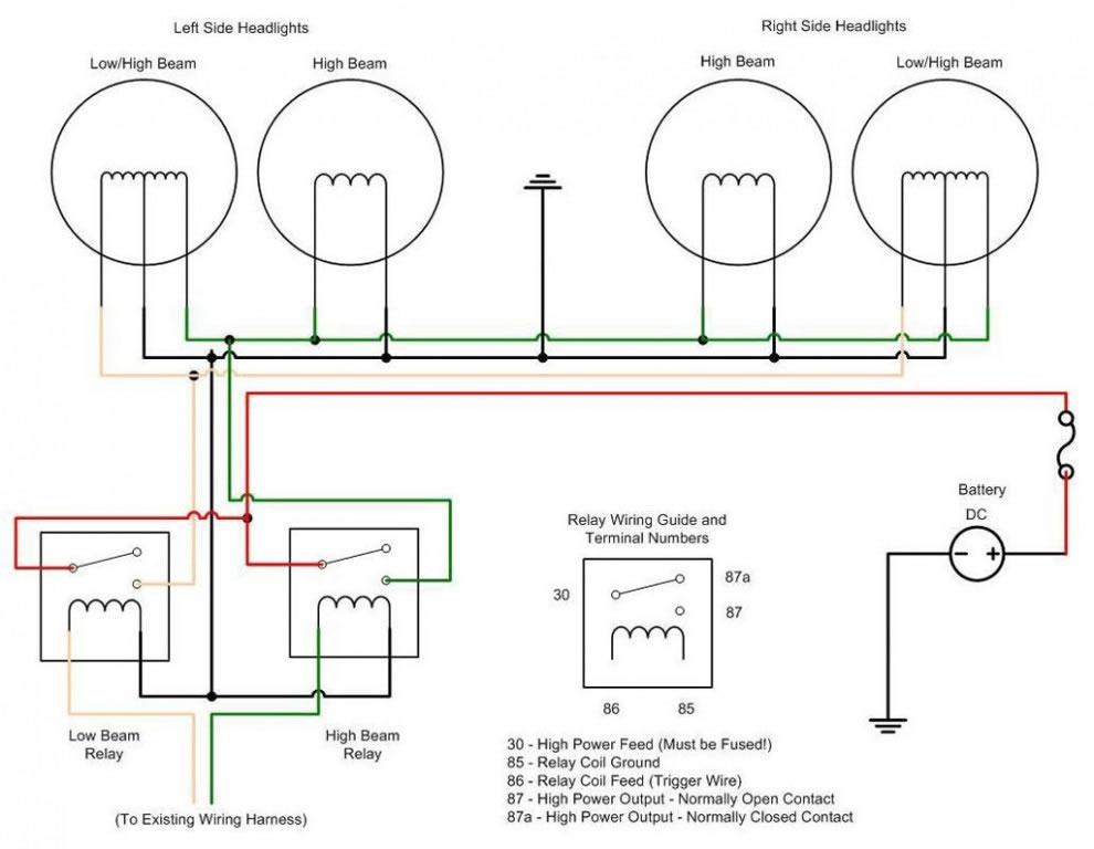 Hid Head Lights A Better, Peterbilt 379 Headlight Wiring Diagram