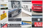 Types of car number plates in Singapore