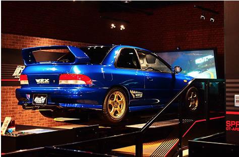 D4 blue car