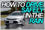 Here's how to drive safely in the rain