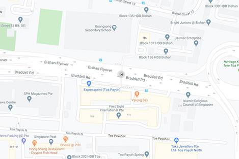 Braddell Rd Map