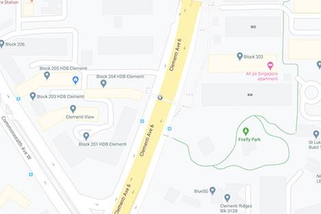 Clementi Avenue 6 Map