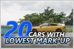Top 20 cars you can buy with the lowest mark-up