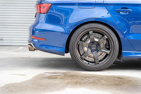 blue car back