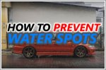 Water spots - how to prevent them from occurring