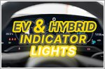 What do these hybrid and electric car indicator lights mean?