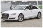 The Audi A8L epitomises the peak of power
