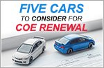 Five cars that are worth renewing COE for
