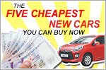 Five cheapest new cars you can buy today