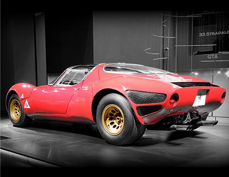 Alfa Romeo 33 Stradale back