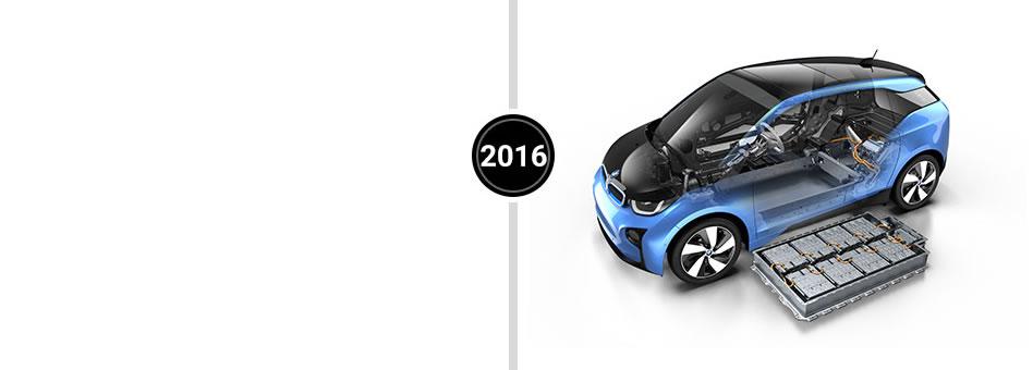Blue Electric Car