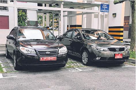 Two Black Car