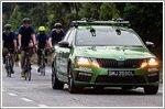 Skodas in service - Charity Bike 'n' Blade 2019