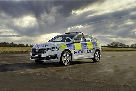 Police car side