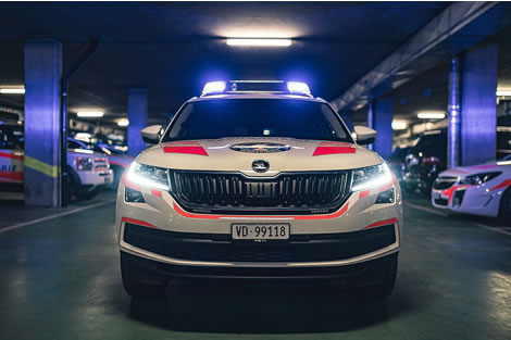 Police car front