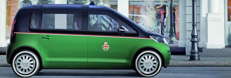 Volkswagen Showcases The Milan Ev Taxi Concept