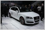 Audi A3 e-tron hatchback at the Los Angeles Motor Show