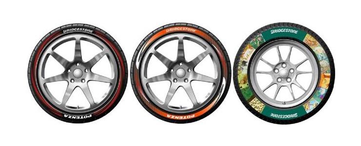 Bridgestone debuts colour printing technology for tyres