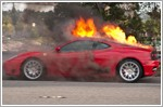 Ferrari burst into flames at Penjuru
