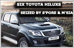 Six Toyota Hiluxs seized in joint police operation