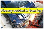 Five vehicles involved in accident at Boon Lay junction