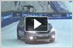 Peugeot shows off traction control technology in an indoor snow slope