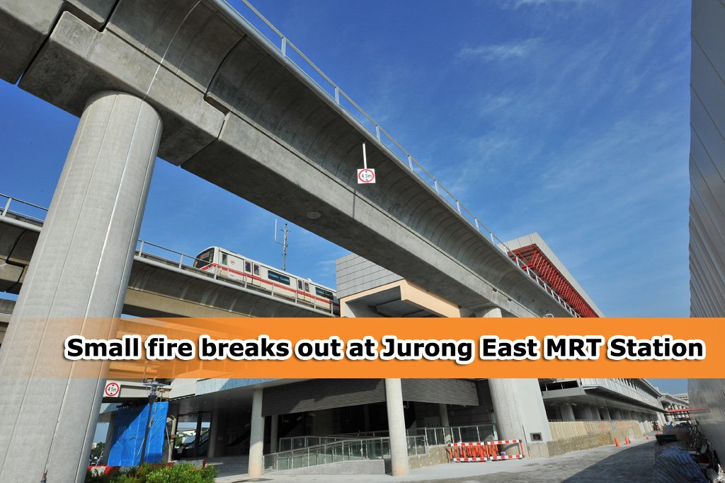 Small fire incident at Jurong East MRT yesterday evening