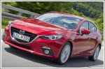 Convoy of all new Mazda3 cars to drive from Japan to Germany