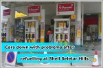 Cars met with engine problems after refuelling at Shell's Seletar Hills station