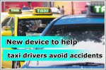 In-car device to help bus and cab drivers avoid accidents