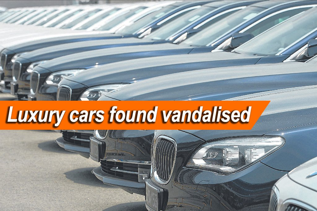 Luxury Cars At Car Workshop Vandalised With Paint Remover Photo
