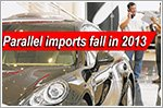 Lesser parallel imports of cars in 2013
