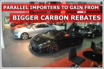 Parallel import cars to qualify for bigger carbon rebates