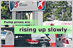 Pump prices back on the rise as three petrol companies make adjustments
