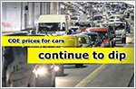 COE premiums for cars fall despite aggressive pricing and new model launch