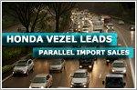 Honda Vezel is top selling parallel import model
